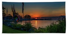 Beach Towel featuring the photograph Sunrise On The Neuse 3 by Cindy Lark Hartman