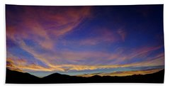Sunrise Over Canyon Hills Beach Towel