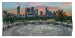 Sunrise Over Downtown Austin, Texas 3 Beach Towel