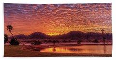 Beach Sheet featuring the photograph Sunrise Over Gila Mountain Range by Robert Bales