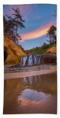 Beach Towel featuring the photograph Sunrise Over Hug Point by Darren White