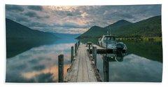 Sunrise Over Lake Rotoroa Beach Sheet
