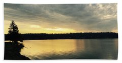 Sunrise Over Lake Washington Beach Sheet