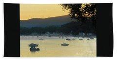 Sunrise Over Malletts Bay Panorama - Nine V2 Detail Beach Sheet