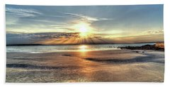 Sunrise Over Red Rock Park Lynn Ma Kings Beach Beach Towel
