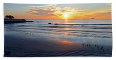 Sunrise Over Red Rock Park Lynn Shore Drive Beach Towel