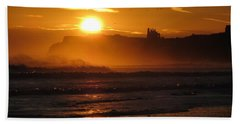 Sunrise Over Sandsend Beach Beach Towel