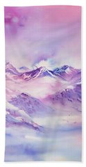 Swiss Mountains Early Morning Beach Towel