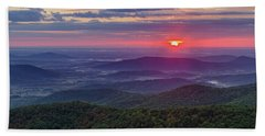 Beach Towel featuring the photograph Sunrise Over The Blue Ridge by Lori Coleman