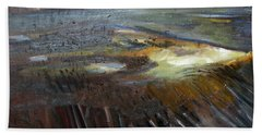 Beach Towel featuring the painting Sunrise Over The Flats by Michael Helfen