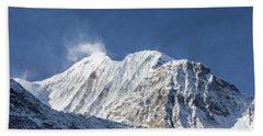 Sunrise Over The Gangapurna Peak At 7545m In The Himalayas In Ne Beach Sheet