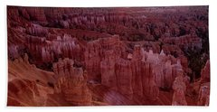 Sunrise Over The Hoodoos Bryce Canyon National Park Beach Sheet by Dave Welling