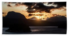 Sunrise Over The Inland Passage Beach Towel