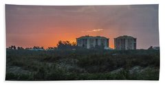 Sunrise Over The Intracoastal Beach Sheet by Nance Larson