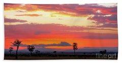 Sunrise Over The Mara Beach Towel