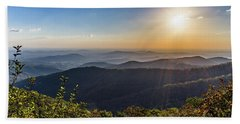 Beach Towel featuring the photograph Sunrise Over The Misty Mountains by Lori Coleman