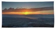 Sunrise Over The Moav Mountains Beach Towel