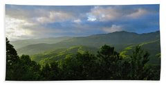 Sunrise Over The Smokies Beach Sheet by Rita Mueller
