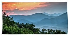 Beach Towel featuring the photograph Sunrise Over The Smoky's by Douglas Stucky