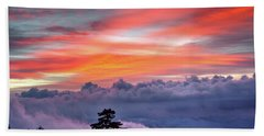 Beach Towel featuring the photograph Sunrise Over The Smoky's II by Douglas Stucky
