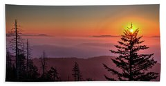 Beach Sheet featuring the photograph Sunrise Over The Smoky's IIi by Douglas Stucky