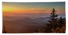 Beach Sheet featuring the photograph Sunrise Over The Smoky's V by Douglas Stucky