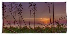 Sunrise Palm Blooms Beach Towel