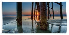 Sunrise Pier Beach Towel