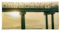 Beach Towel featuring the photograph Sunrise Pier In Alabama  by John McGraw