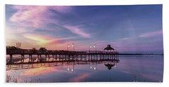 Sunrise Pier Beach Towel