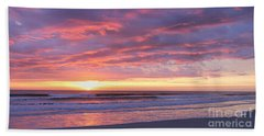 Sunrise Pinks Beach Towel by LeeAnn Kendall