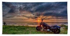 Sunrise Ride Beach Towel