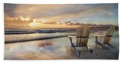 Beach Towel featuring the photograph Sunrise Romance by Debra and Dave Vanderlaan