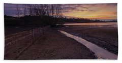 Sunrise, Rutland Water Beach Towel