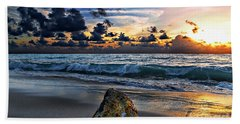 Sunrise Seascape Wisdom Beach Florida C3 Beach Towel
