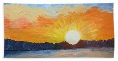 Sunrise At Pine Point Beach Towel