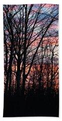 Sunrise Silhouette And Light Beach Towel