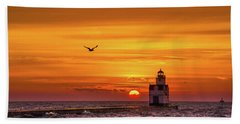 Beach Sheet featuring the photograph Sunrise Solo by Bill Pevlor
