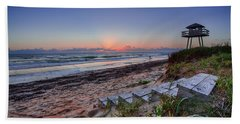 Sunrise Stairs Beach Towel