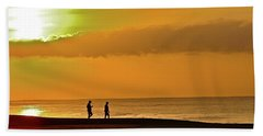 Sunrise Stroll Beach Towel