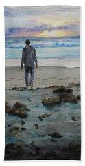 Sunrise Stroll Beach Towel