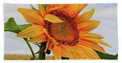 Sunrise Sunflower Beach Towel