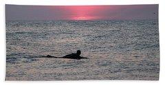 Sunrise Surfing Beach Towel