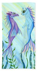 Sunrise Swim - Sea Dragon Mermaid Cat Beach Towel