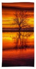 Sunrise Tree Beach Towel