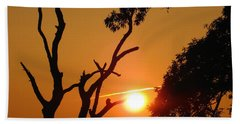 Sunrise Trees Beach Towel