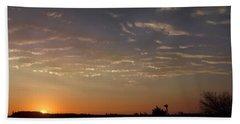 Sunrise With Windmill Beach Towel