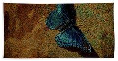 Suns Cast Butterfly Art Beach Sheet