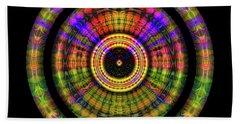 Beach Towel featuring the digital art Sunset 2, Series II by Visual Artist Frank Bonilla