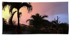 Sunset 2 Beach Towel by Val Oconnor